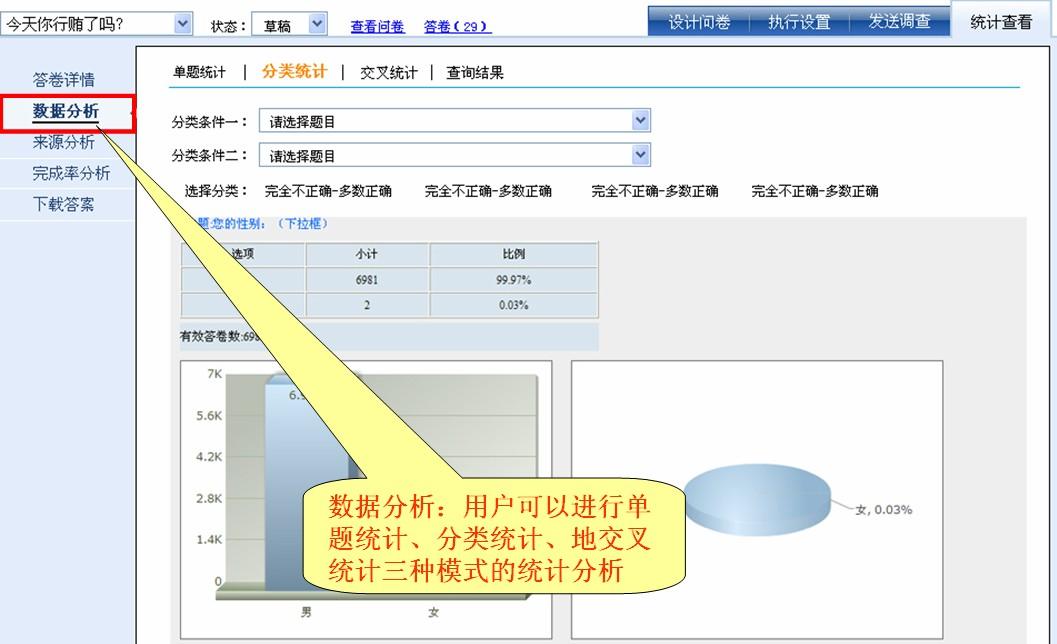 答卷数据统计分析-调查宝-在线调查系统